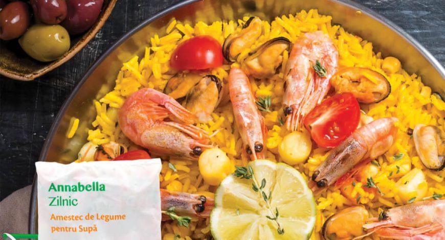 Paella cu fructe de mare în stil spaniol