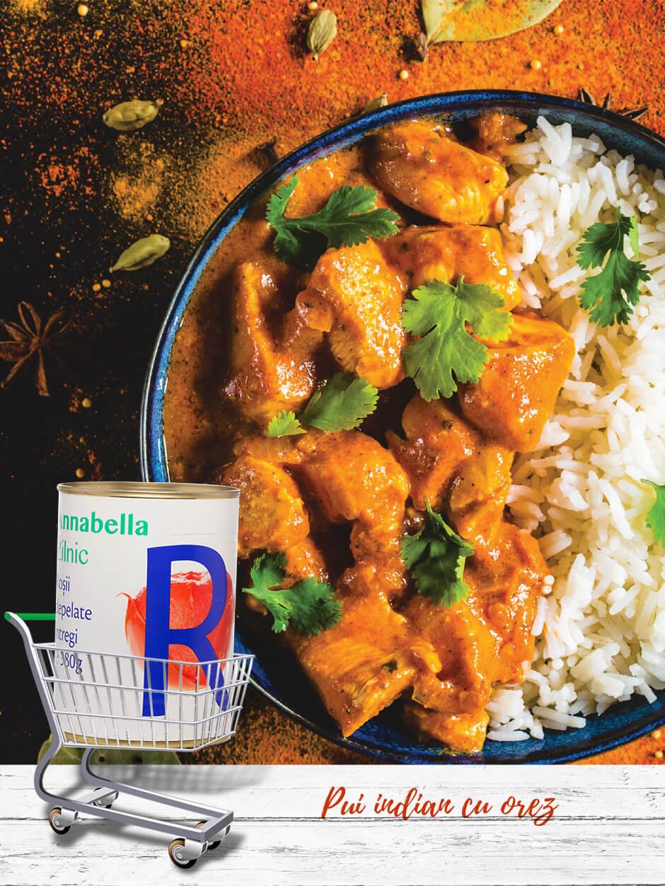 Pui indian cu orez