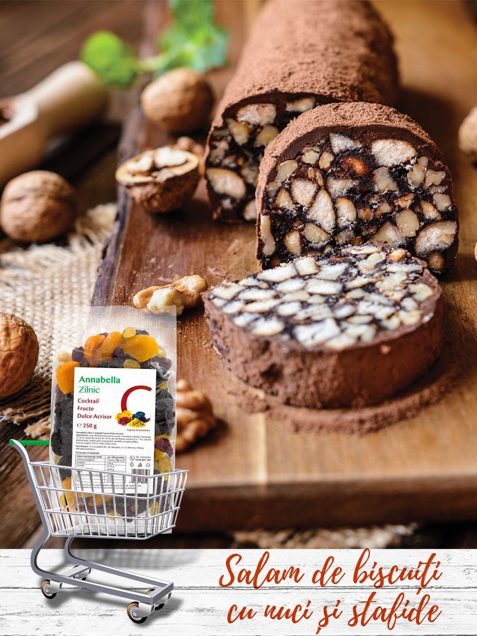 Salam-de-biscuiți-cu-nuci-și-stafide