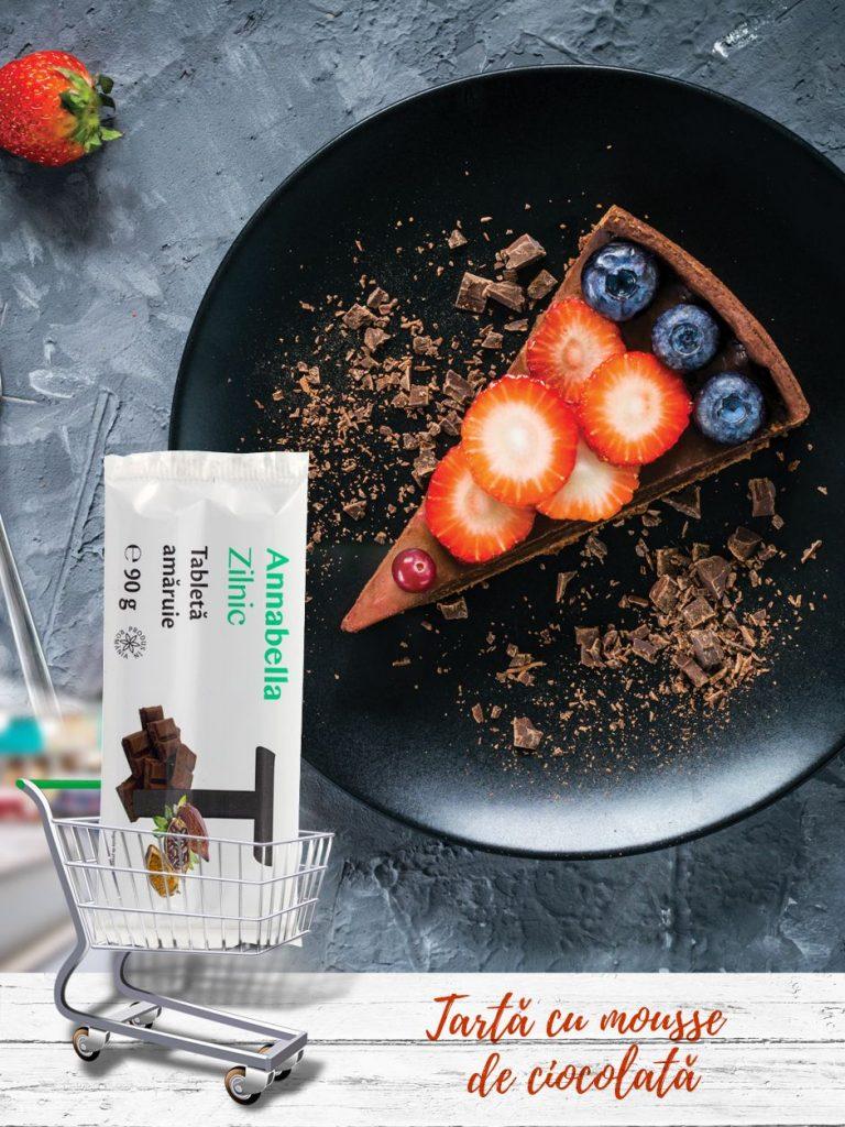 Tartă-cu-mousse-de-ciocolată