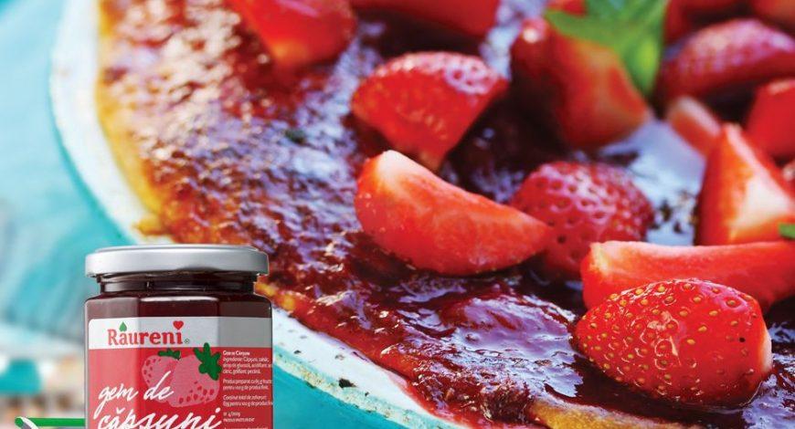 Prăjitură-răcoroasă-cu-gem-de-căpșuni