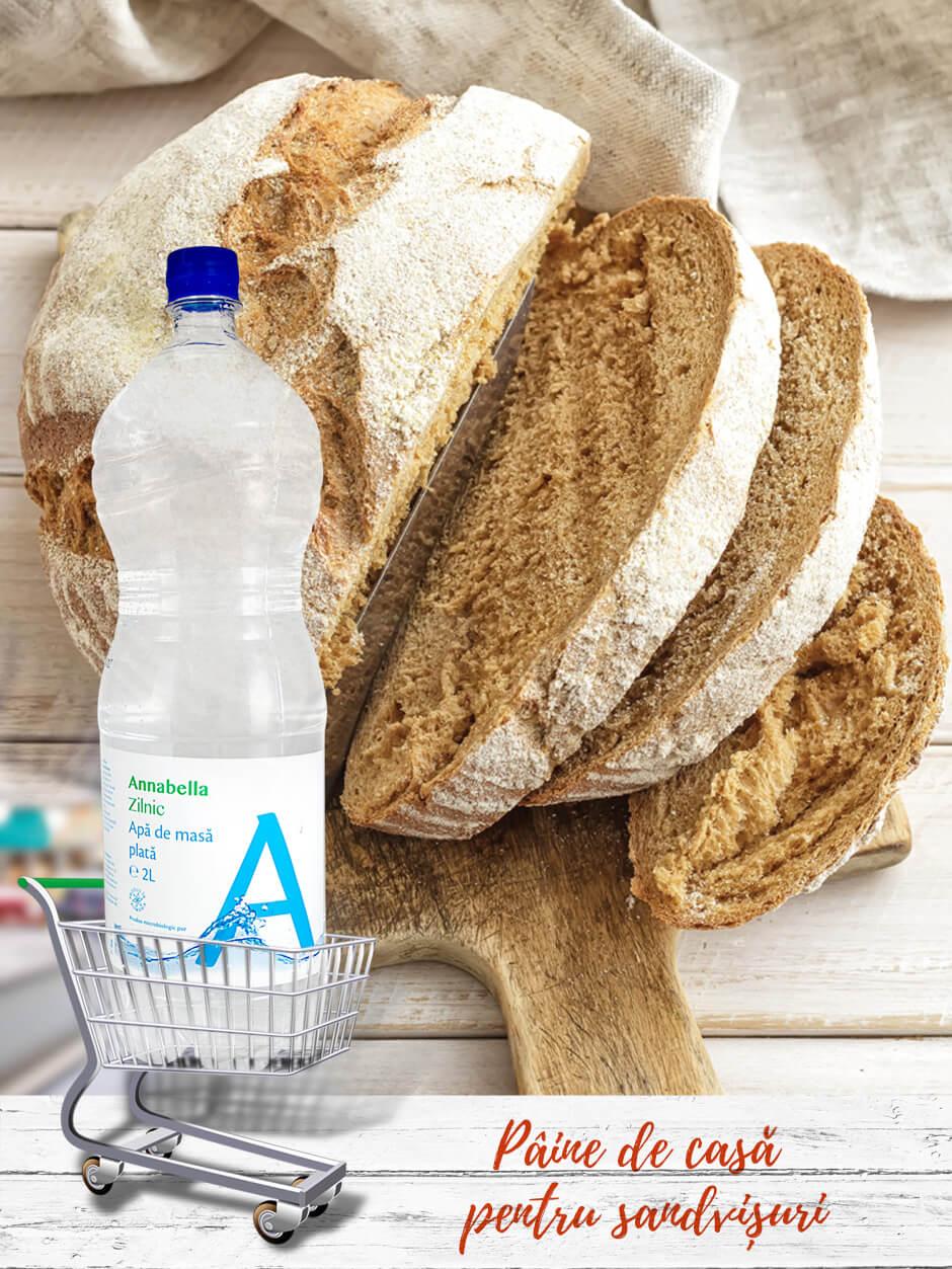Pâine de casă pentru sandvișuri